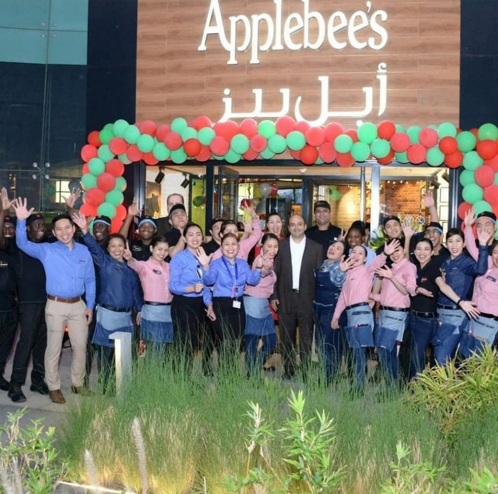 This image has an empty alt attribute; its file name is applebees-opening-1024x1017.jpg